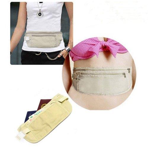 Neewer NEEWER® Travel Pouch Hidden Compact Security Money Passport ID Waist Belt Bag Holder