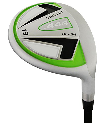 Bullet Golf Men's .444 Hi Loft #13 Fairway Wood, Right Hand, Graphite, Uniflex, 34-Degree, 40-Inch