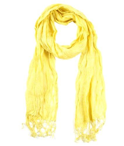 Modadorn-Spring-Summer-Fresh-Linen-Wrinkled-Yellow-Soild-Scarves-Womens-fashion-clothing-accessories