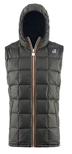 K-Way, Joseph Thermo Plus Double, Gilet per Uomo, Multicolore (F88-Black/Torba), M
