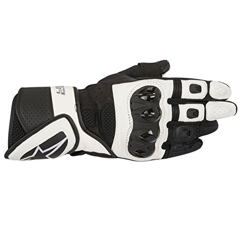 Alpinestars Stella SP Air Womens Leather Motorcycle Gloves - Black/White - X-Small