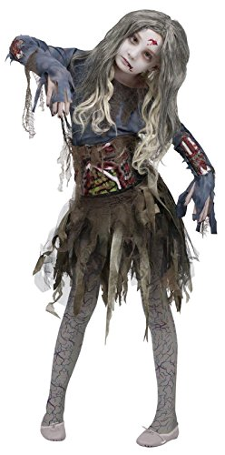 Zombie Girls Halloween Costume, Large (12-14) front-1066679