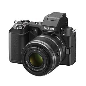 Nikon 1 V2 Kit Compact numérique hybride 14,2 Mpix + Objectif Nikkor VR 10-30 mm + Objectif Nikkor VR 30-110 mm Noir