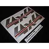 4X4 Fender Vinyl Decals Tailgate Stickers Chevy Ford METALLIC SILVER & RED ~ UNDERGROUND DESIGNS...
