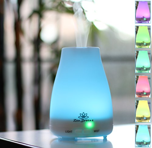 Zen Breeze, Aromatherapy Essential Oil Diffuser, New Model, Cool Mist Ultrasonic Humidifier
