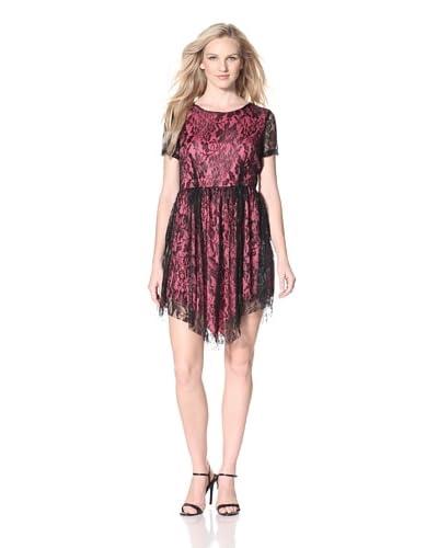 Bacci Women's Handkerchief Hem Lace Dress