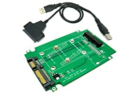 Sintech Mini PCI-e SATA SSD to SATA Adapter for Asus Eee PC 1000 S101 900 901 900A T91 SSD with USB SATA Cable