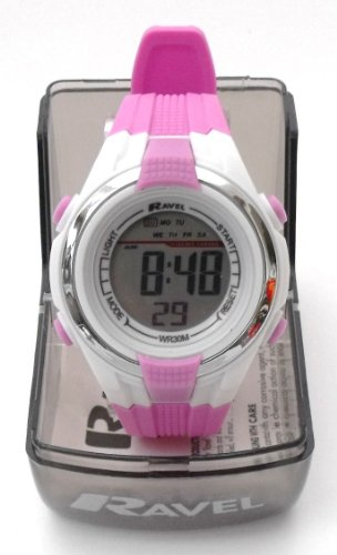 Girls/Kids Digital LCD Sports Watch - Gift Boxed - Multi Functional- 14-20cm Strap - 3ATM - Lilac 2k