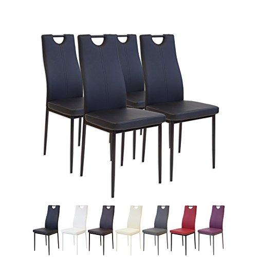 Albatros 2907 SALERNO Set di 4 sedie da pranzo, nero
