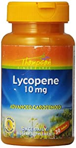 Thompson Lycopene Softgels, 10 Mg, 30 Count