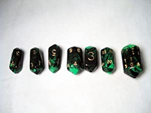 Crystal Dice in Oblivian Green Dice Set