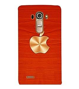 printtech Wooden Apple Back Case Cover for LG G4::LG G4 H815
