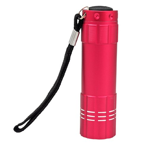 Metro Shop 9 Led Lamp Aluminum Alloy Hand Torch Flashlight - Pink