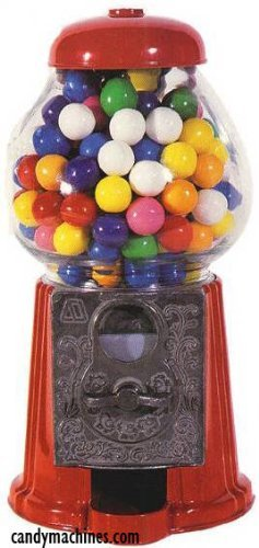 Carousel Petite Gumball Machine Bank, 9