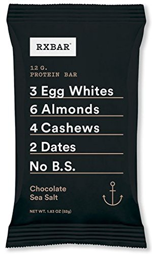 RXBAR Whole Food Protein Bar, Chocolate Sea Salt, 1.83 Ounce (Pack of 12) (Sea Salt Real Food compare prices)