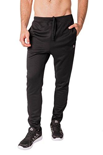 RBX Active Men's Lightweight Fleece Tapered Running Pants Black XL