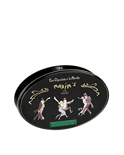 Maxim's de Paris Tin of 25 Mint Bonbons Covered in Dark Chocolate