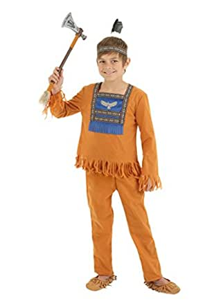 Fun Costumes boys Boys Brave Indian Warrior Costume