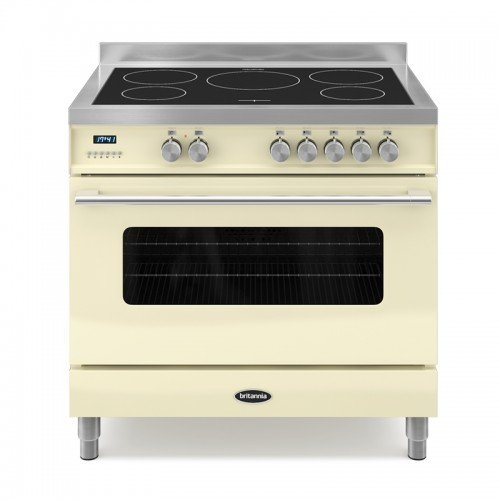 Britannia RC-9SI-DE-CR Delphi 90cm Single Induction Range Cooker Gloss Cream