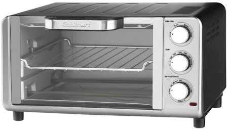 Cuisinart Compact Toaster Oven Broiler with Bake, Broil, Toast and Keep Warm Features, Hands Free Auto-Slide Out Rack and Easy-Clean Nonstick Interior, Includes Baking Tray, Broiling Rack and Recipe Book (Compact Toaster Oven Broiler compare prices)