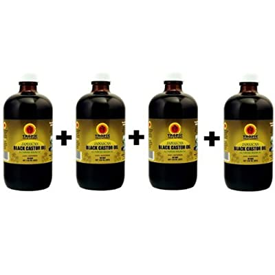 Jamaican Black Castor Oil 8oz with FREE Applicator (Pack of 4)