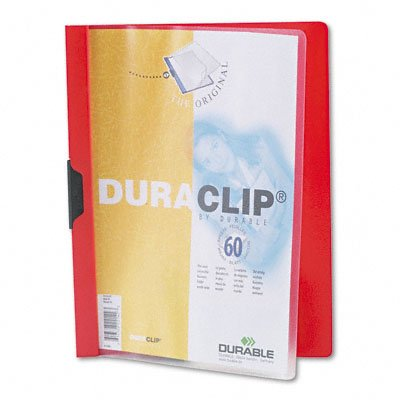 DuraClip Report Cover with 60-Sheet Capacity, Letter Size, Clear/Red DBL2214RD - Buy DuraClip Report Cover with 60-Sheet Capacity, Letter Size, Clear/Red DBL2214RD - Purchase DuraClip Report Cover with 60-Sheet Capacity, Letter Size, Clear/Red DBL2214RD (Durable, Office Products, Categories, Office & School Supplies, Binders & Binding Systems, Report Covers)