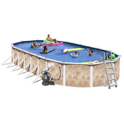 Something good about splash pools oval deluxe pool package - A rectangular swimming pool is 30 ft wide ...