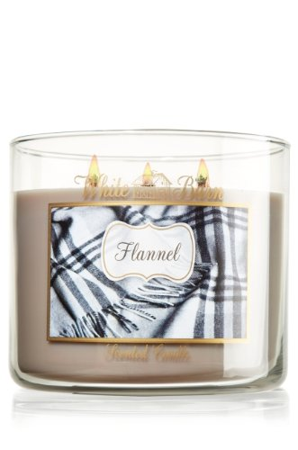 Bath and Body Works White Barn 3 Wick Candle Flannel 14.5 Oz