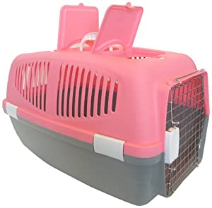 YML Large Plastic Carrier for Small Animal, Pink