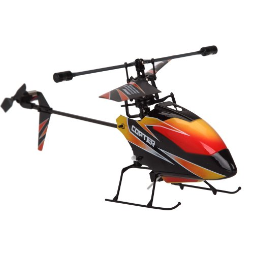 Lujex 4CH 2.4GHz Mini Radio Single Propeller RC Helicopter Gyro V911 RTF Black and Red