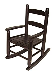 Lipper International 555E Child's Rocking Chair, Espresso by Lipper International