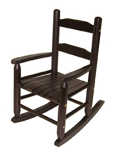 lipper international 555e child s rocking chair espresso