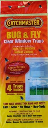 Bug & Fly Clear Window Traps - 3 Packs of 4 Traps