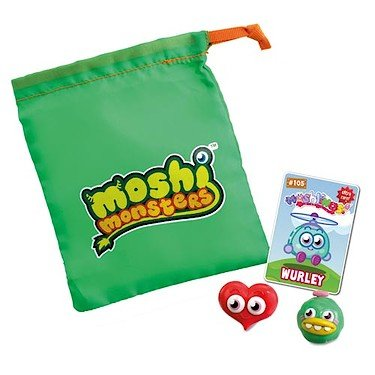Moshi Monsters Moshlings Series 2 Mini Figure Collector Bag 2Pack Includes 1 Virtual Prize Code! - 1