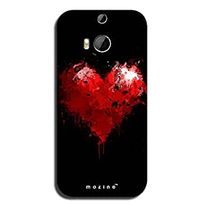 Mozine Love Is Red printed mobile back cover for HTC one m8