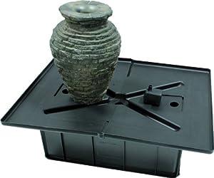 Aquascape 58060 Mini Stacked Slate Urn Fountain Kit, 18.5-Inch, Grey Slate