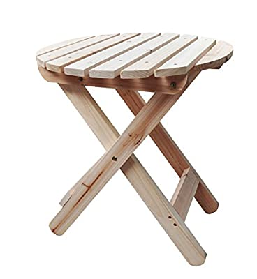 Shine Company 4108N Adirondack Round Folding Table in Natural