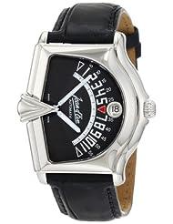 Jean D'eve Men's 777051GA.AA.K Sectora II Automatic Gray Dial Black Alligator-Leather Watch