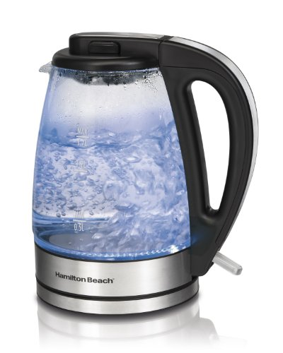 Find Bargain Hamilton Beach 40865 Glass Electric Kettle, 1.7-Liter