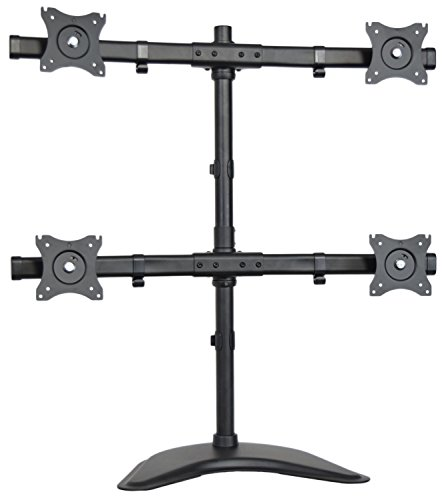 Vivo Quad Monitor Heavy Duty Stand Free Standing Desk