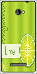 Snoogg Bright Organic Lime Card In Vector Format Designer Protective Back Case Cover For HTC Windows Phone 8S