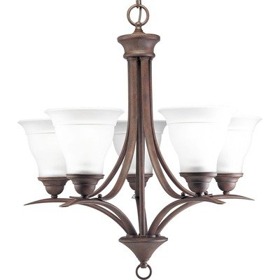 Progress Lighting P4328-20 5-Light Trinity Chandelier, Antique Bronze Progress Lighting B003ZWHG2A