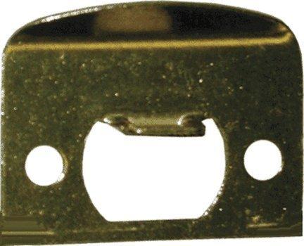 Kwikset Corporation 3796-01 3 Strk Rnd Cnr Full Lip 1/4-Inch Round Corner Strike In Polished Brass front-413495