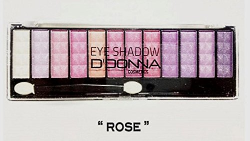 Palette maquillage 12 tons rose dégradés D'DONNA