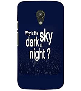 MOTOROLA MOTO G2 DARK SKY Back Cover by PRINTSWAG