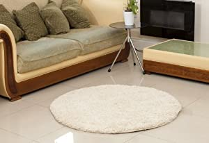 Carnival Soft Touch Round/Circle 120diameter Shaggy Rug (CREAM) from Home Solutions
