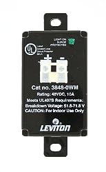 Leviton 3848-WM 48 Volt DC 2 Pole 2 Wire Equipment Cabinet SPD Surge Protective Device Wired-In Module Black