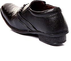 Trilokani Stylish Good Quality Black Formal Shoes For Boys Kids