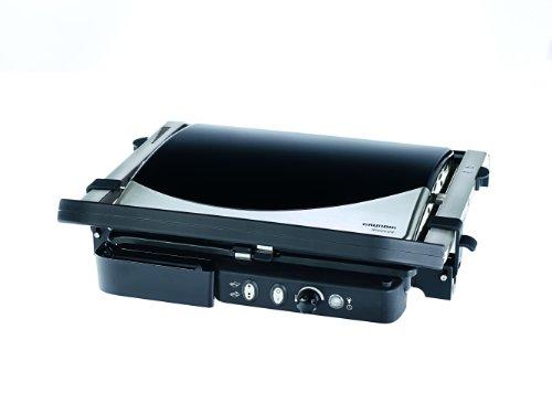 CG 5040 Premium-Kontaktgrill (2000 Watt), schwarz-silber
