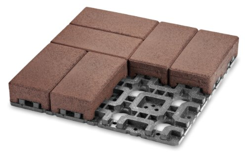 VAST Boardwalk 16-inch x 16-inch Recycled Composite Landscape Paver and Grid System - 24 Pavers/3 Grids